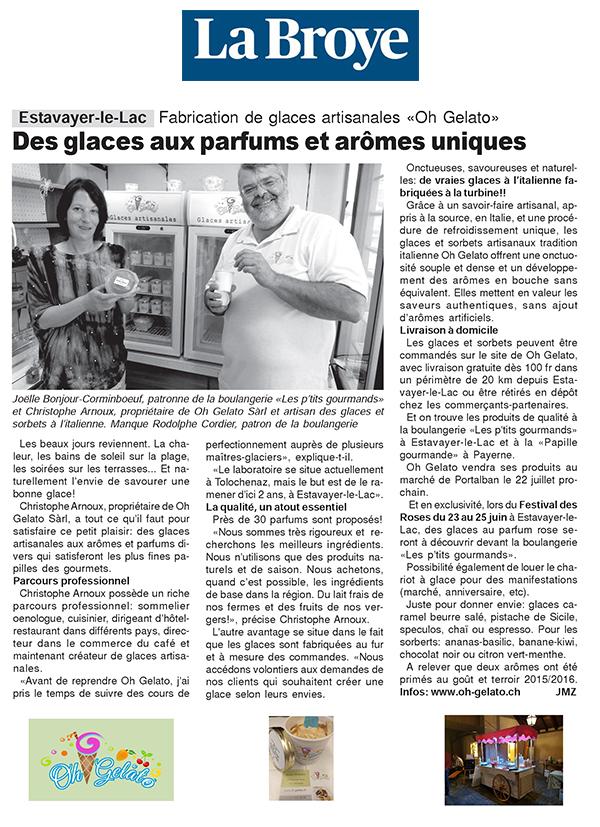 Des glaces aux parfums et arômes uniques